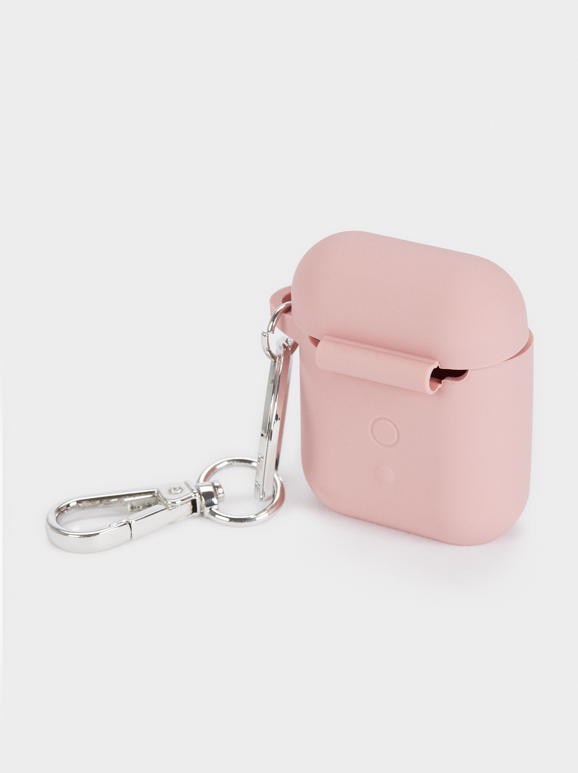 Airpods Case With Heart Detail , Pink, hi-res