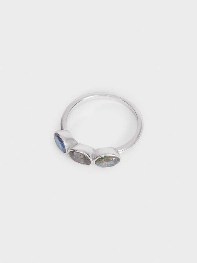 925 Silver Ring With Stones, Grey, hi-res