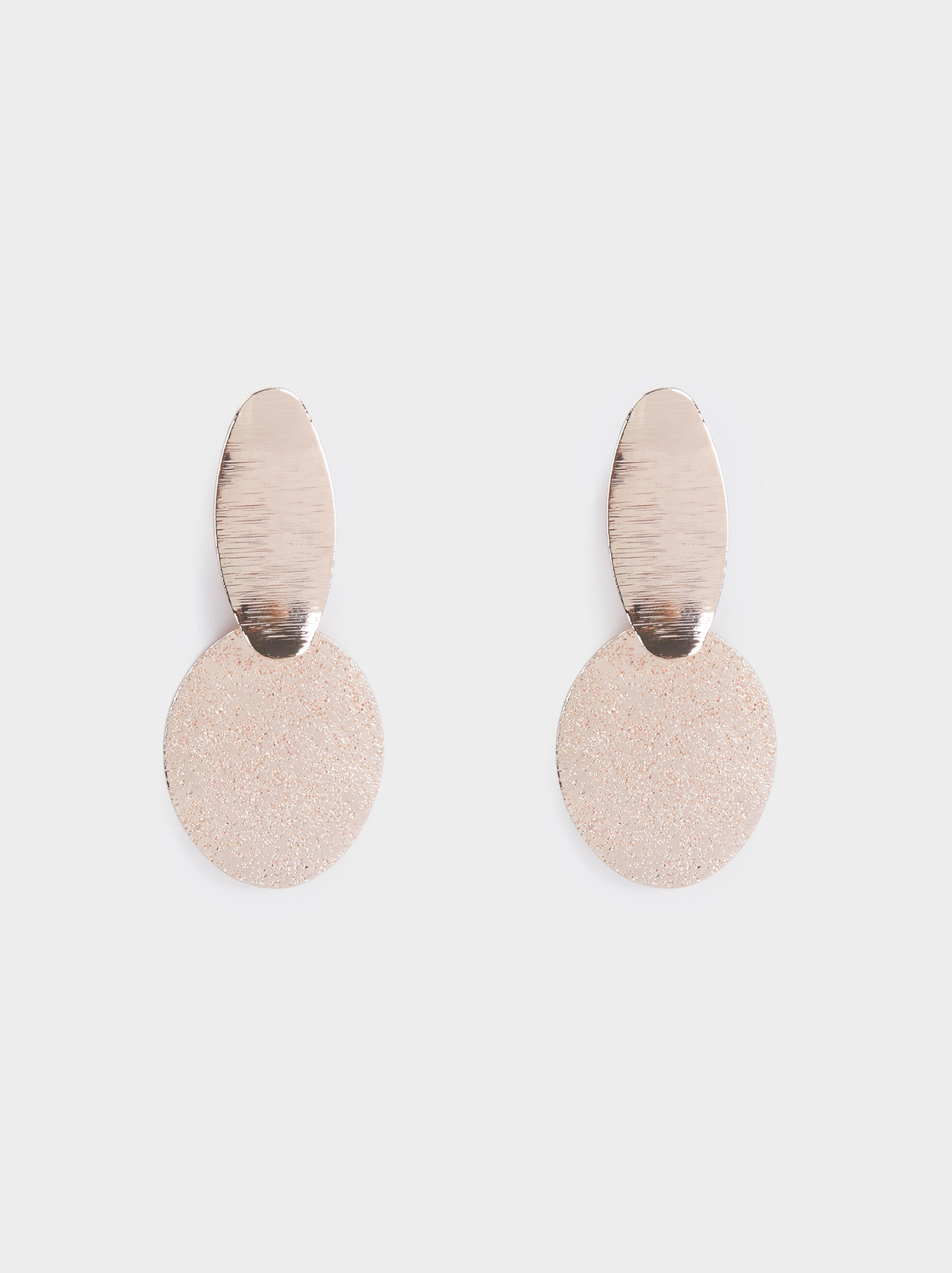 Pink Desert Medium Earrings With Circle, Orange, hi-res
