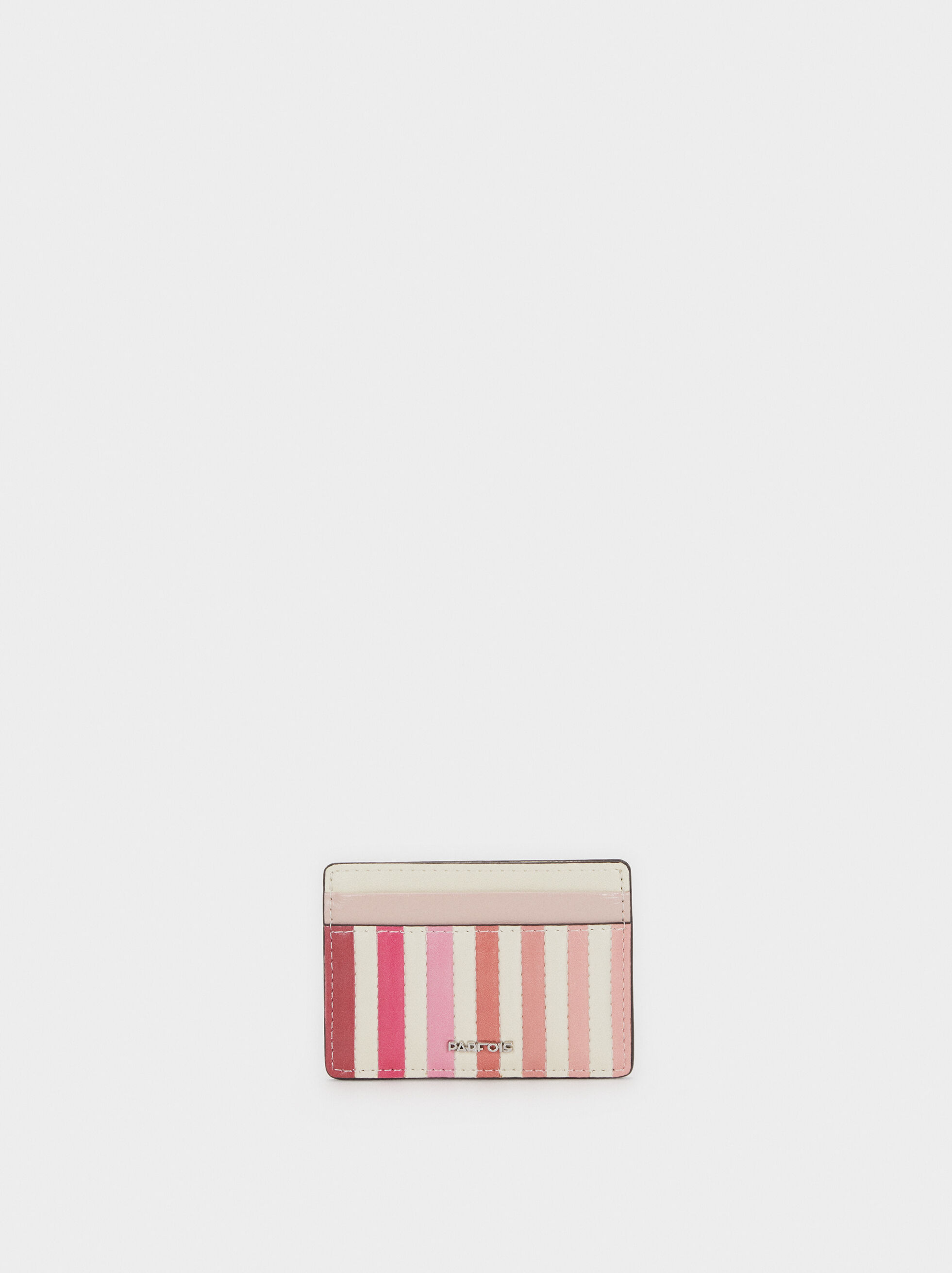 Striped Card Holder, Pink, hi-res