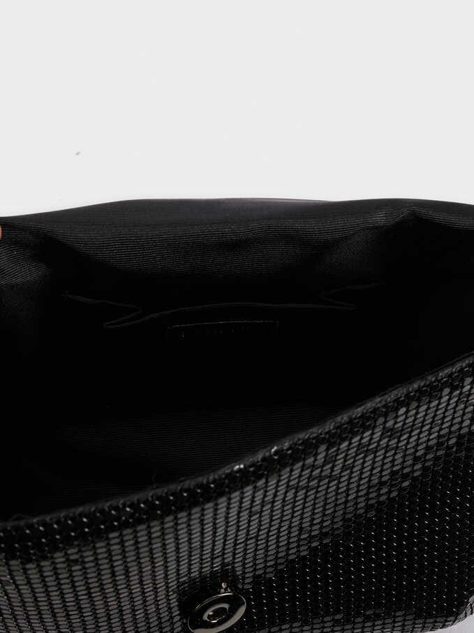 Mini Mesh Crossbody Bag, Black, hi-res
