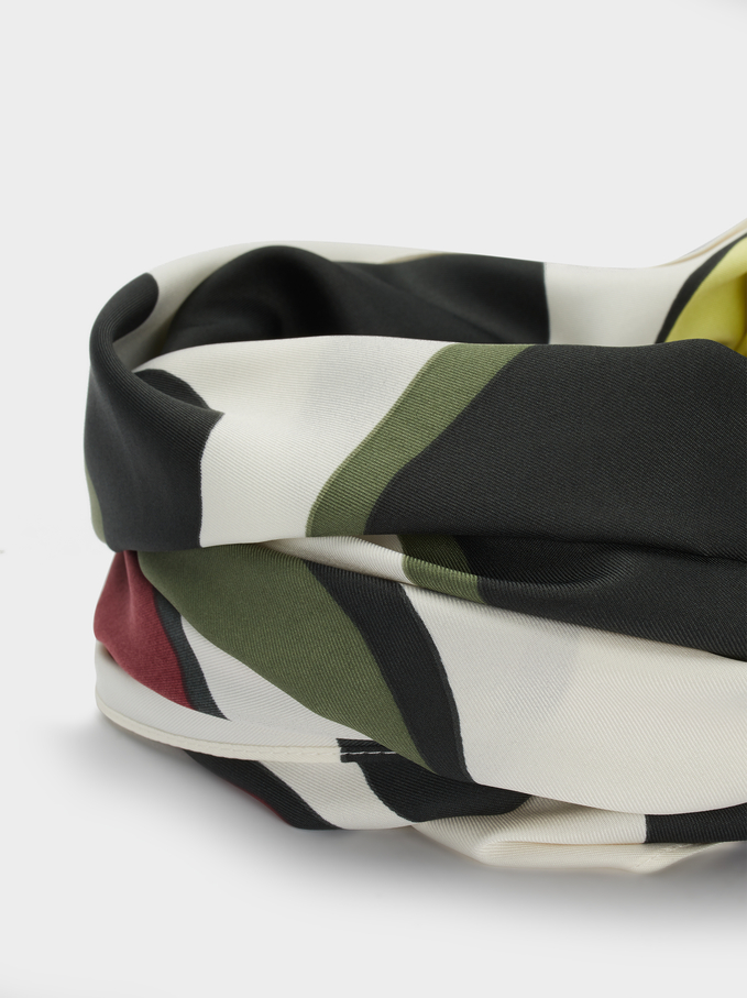 Foulard Carré Imprimé Multicolore, Multicolore, hi-res