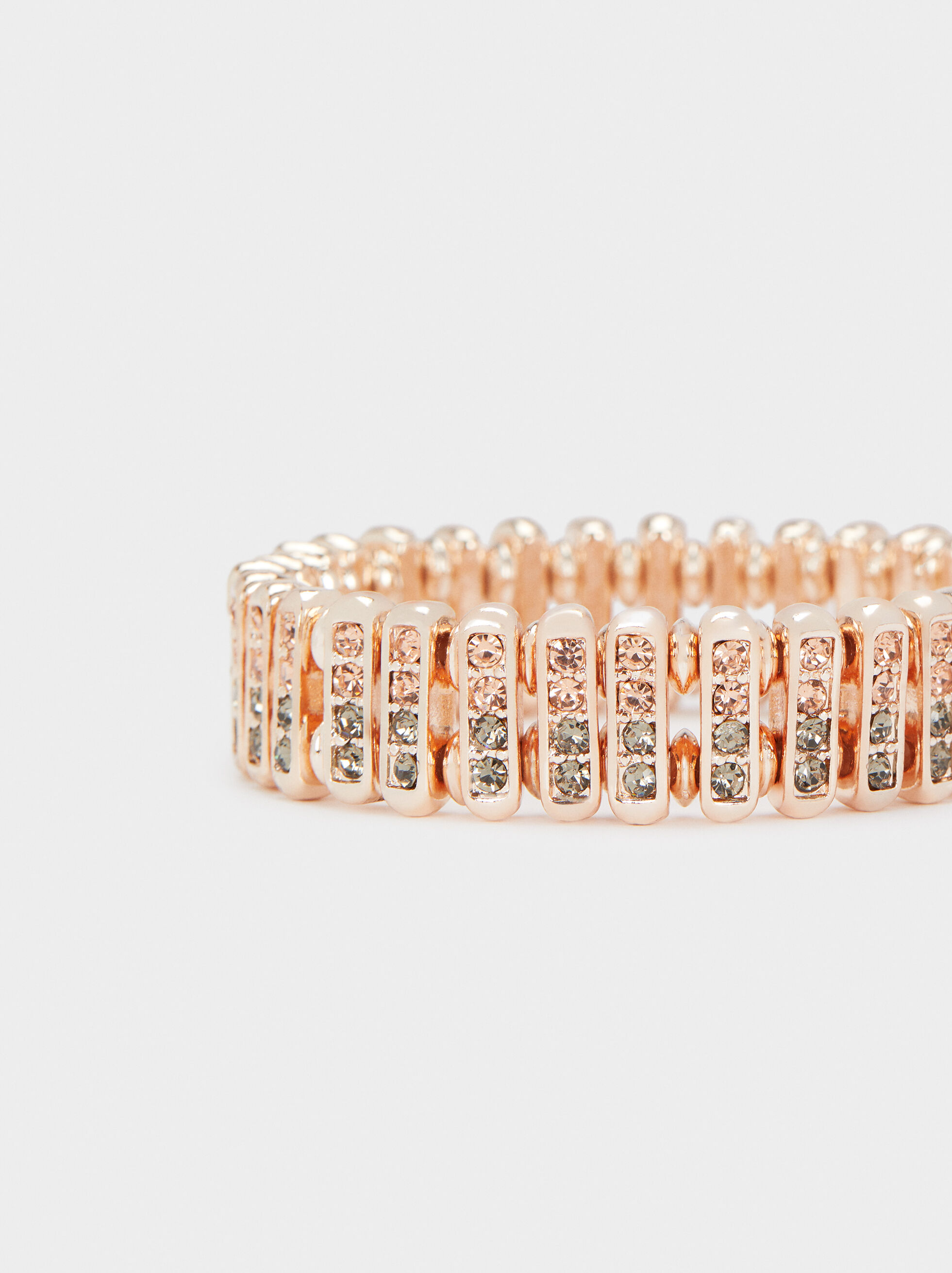 Rose Gold Elastic Bracelet, Orange, hi-res