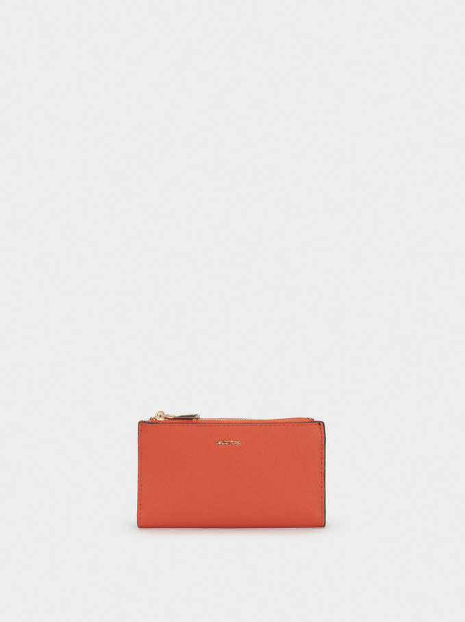 Basic Medium Purse, Orange, hi-res