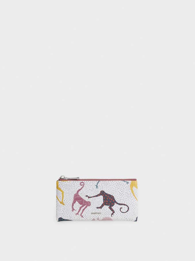 Monkey Print Multipurpose Bag, Ecru, hi-res