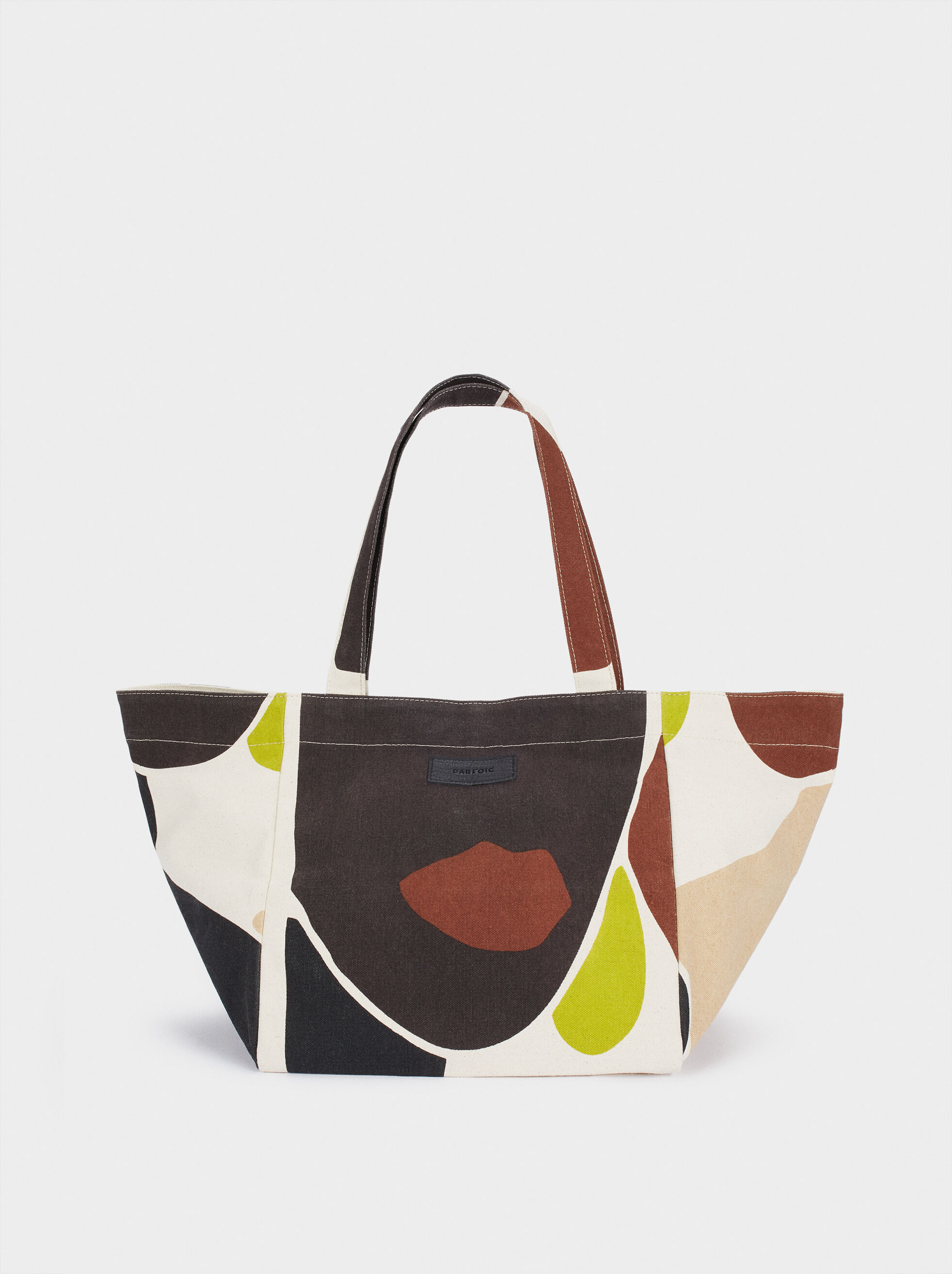 Multi-Coloured Print Shopper, Multicolor, hi-res