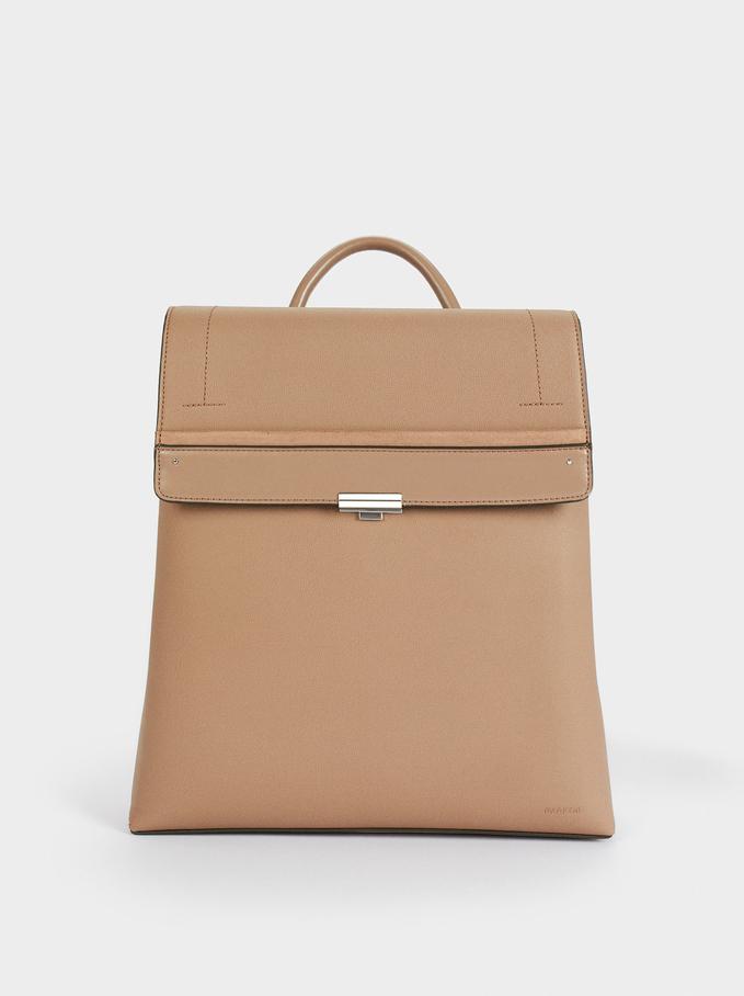"""Backpack For 13"""" Laptop, Brown, hi-res"""