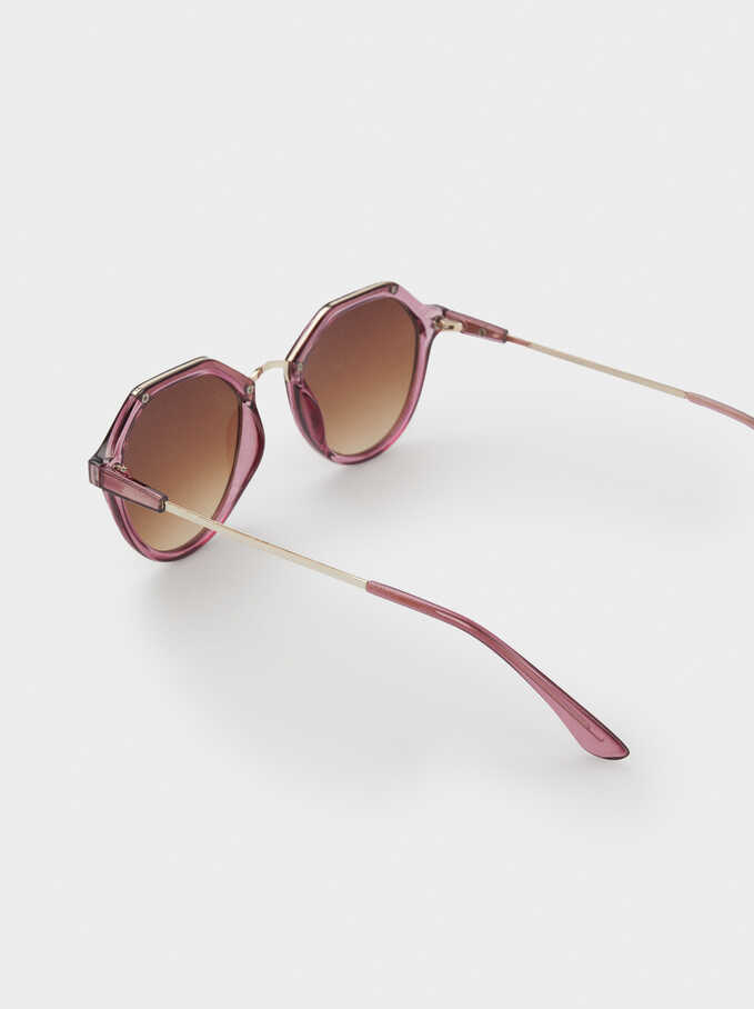 Metal Bridge Sunglasses, Violet, hi-res