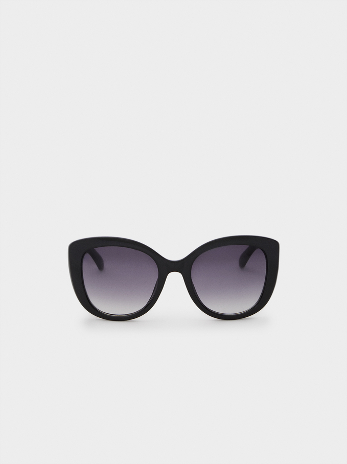 Resin Sunglasses, Black, hi-res