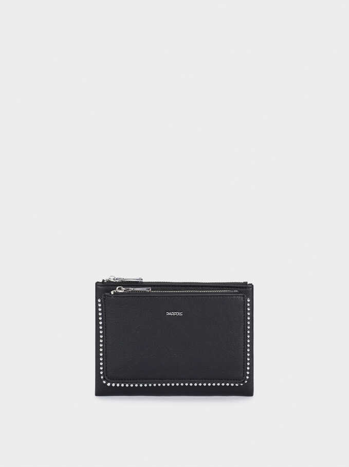 Multi-Use Handbag With Studded Detail, Black, hi-res