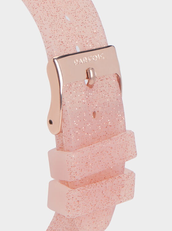 Watch With Glitter Wristband, Pink, hi-res