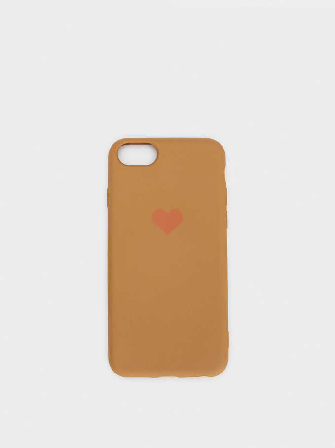 Heart Case For Iphone 6, 7 And 8, Pink, hi-res