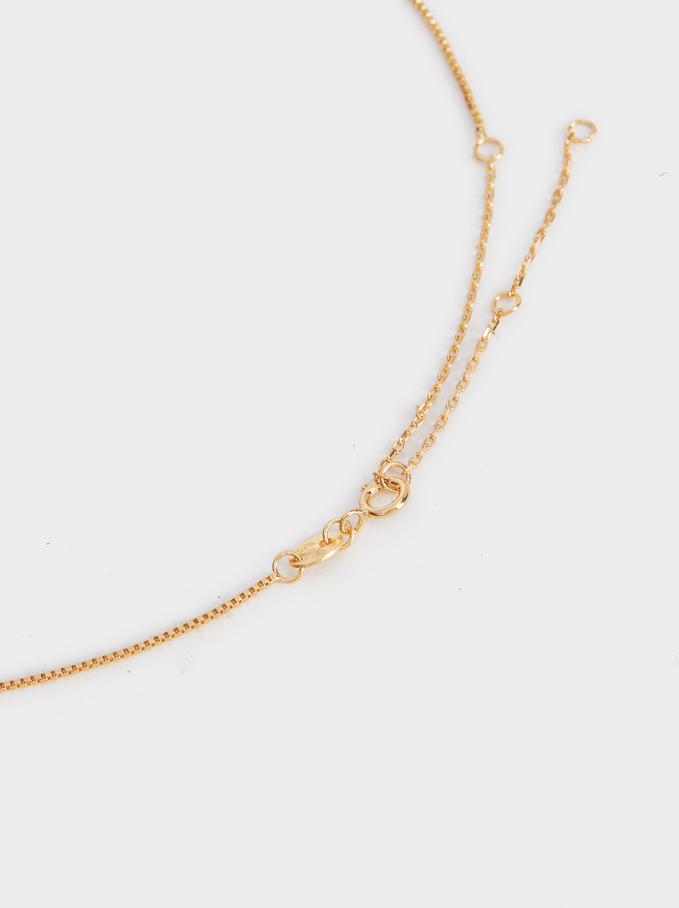 Collar Corto De Plata 925 Brillantes, Dorado, hi-res