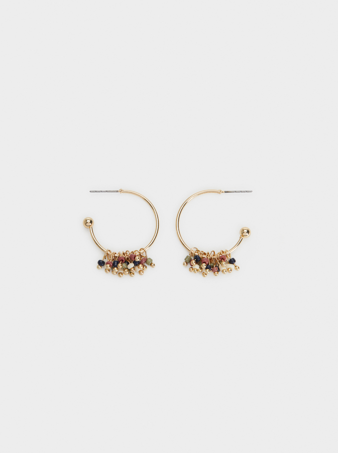 Savage Sparkle Short Hoop Earrings, Multicolor, hi-res