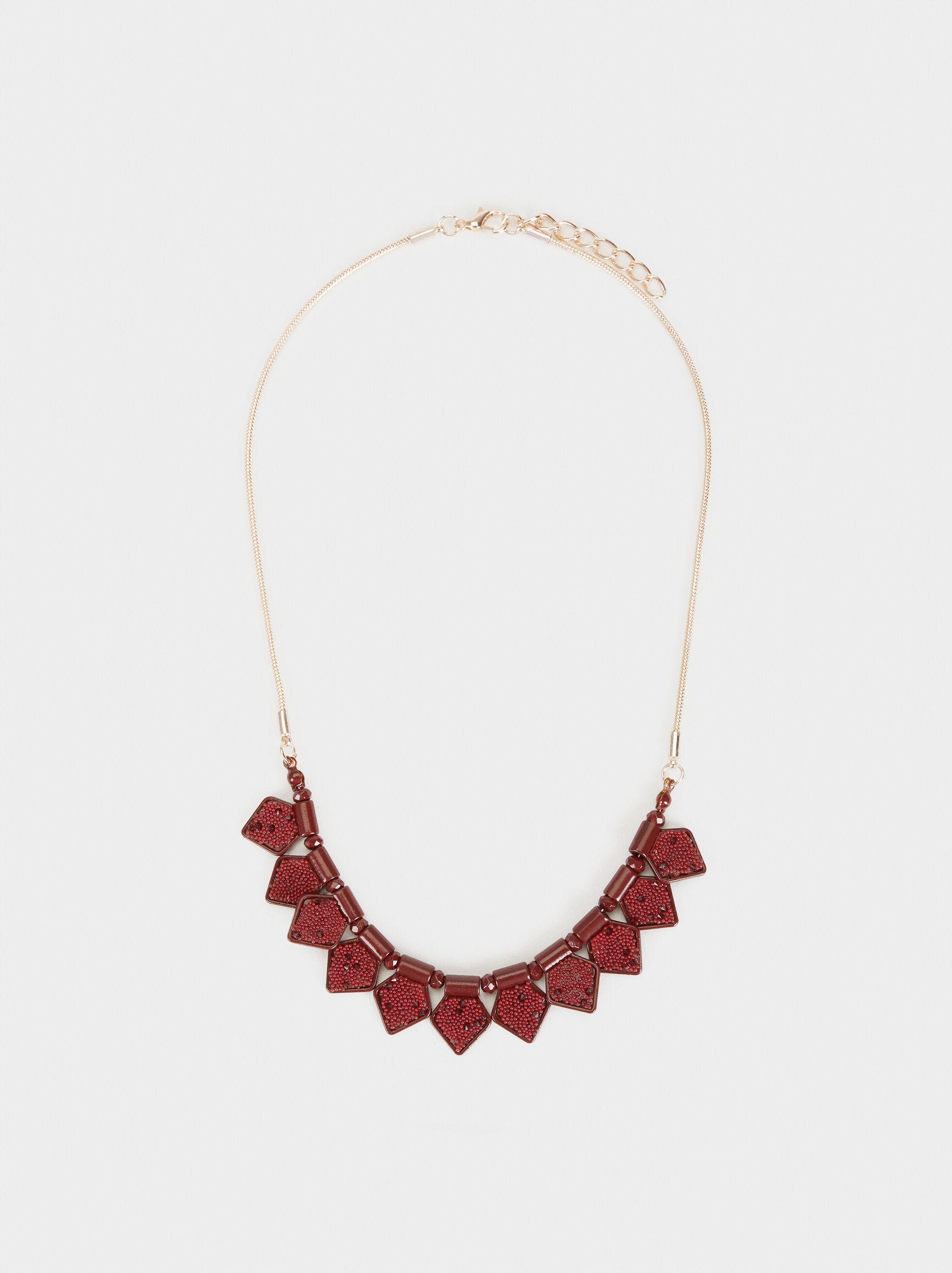 Rose Berry Short Necklace, Bordeaux, hi-res