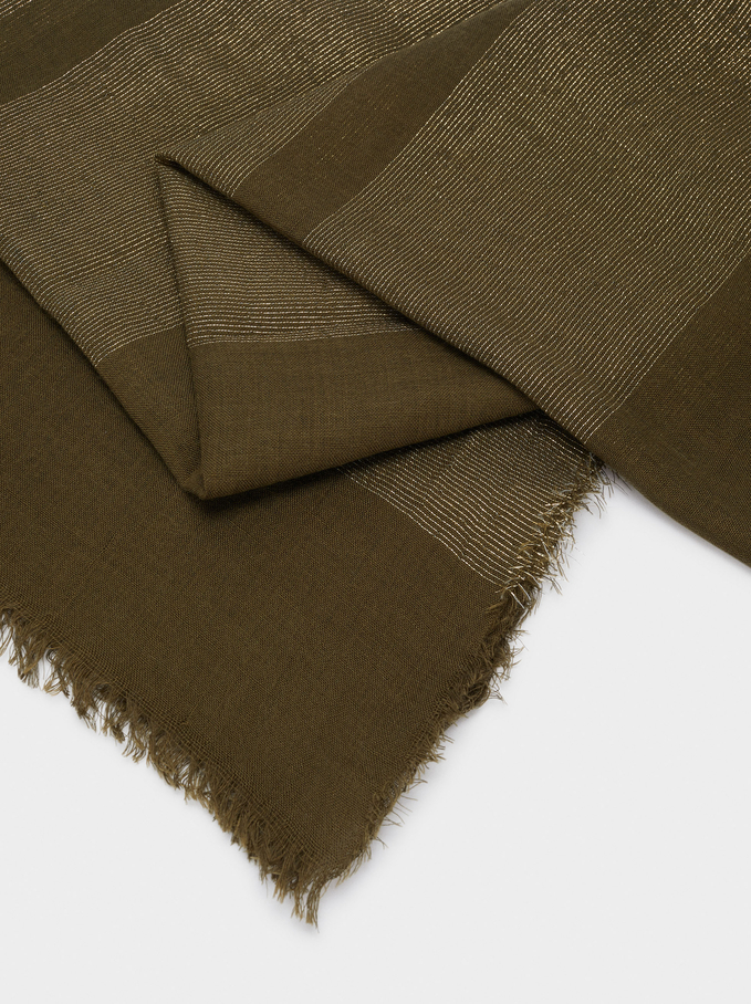 Formal Pocket Square, Khaki, hi-res