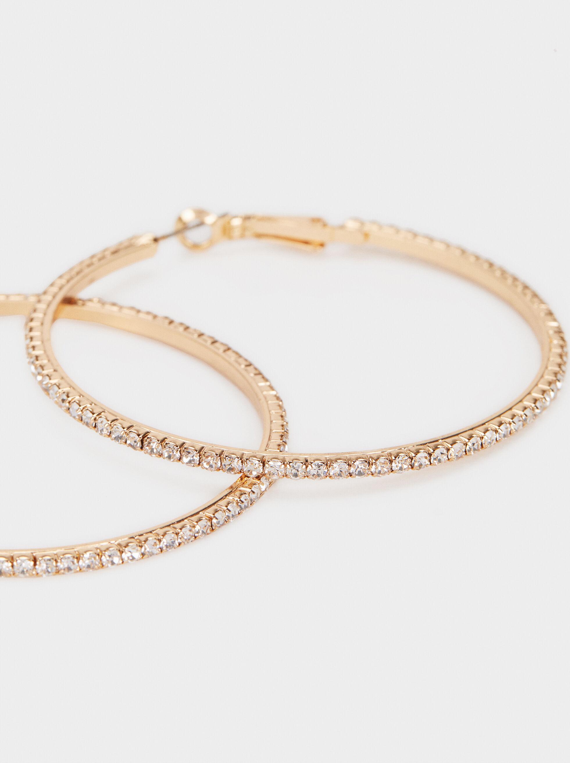 Golden Delicates Hoop-Earrings, Golden, hi-res