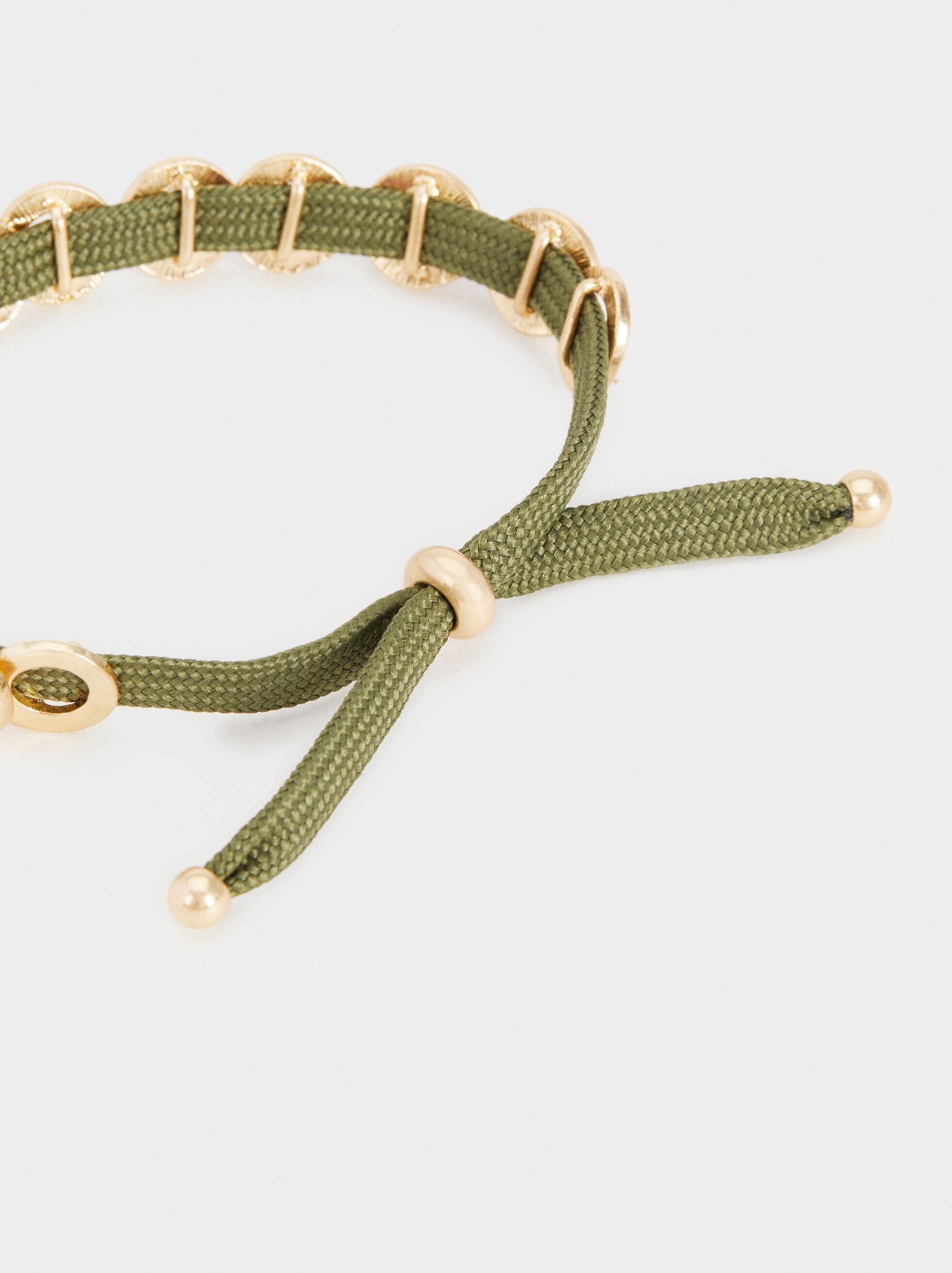 Animal Fever Adjustable Bracelet, Khaki, hi-res