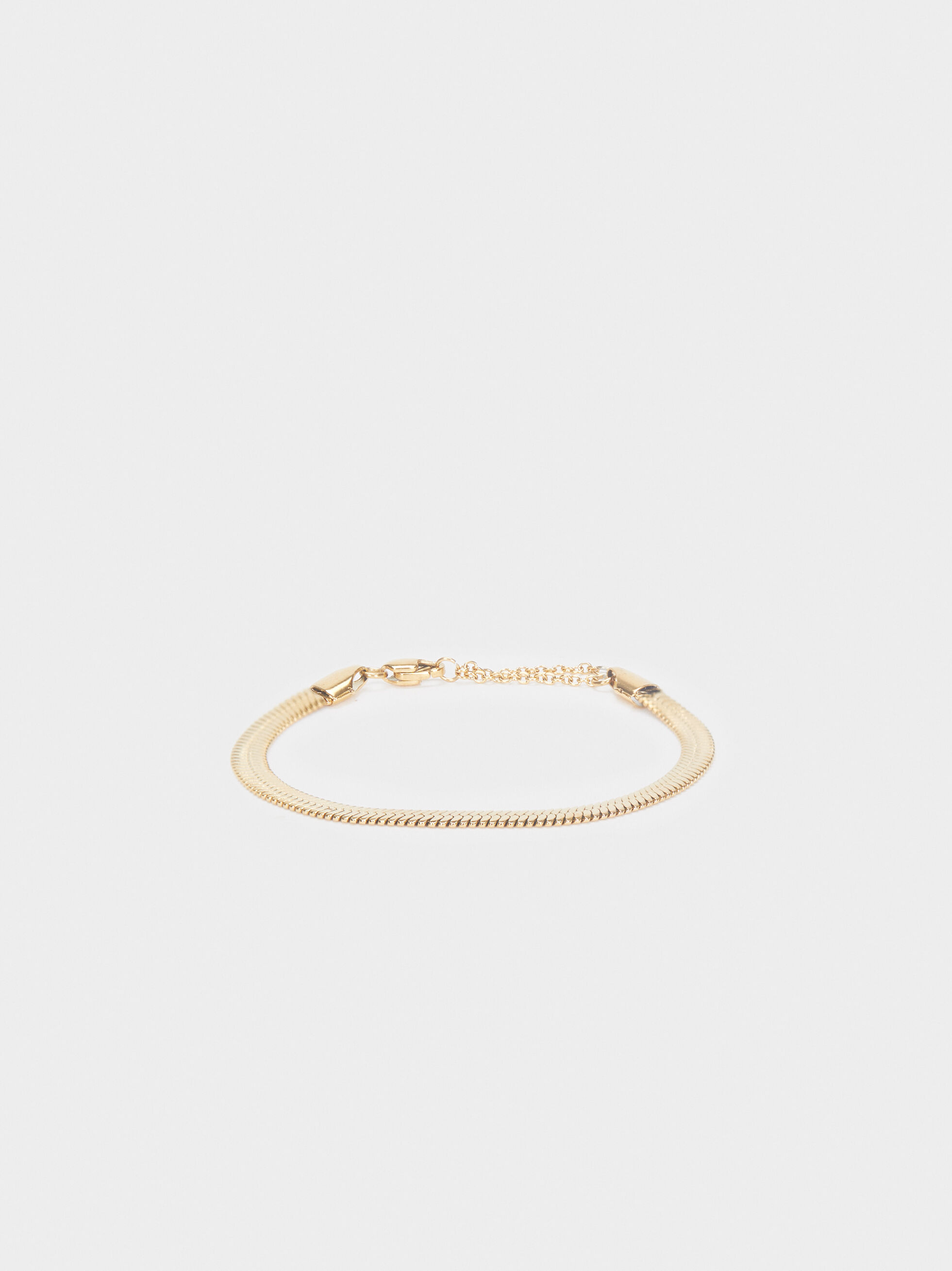 Stainless Steel Gold Bracelet, , hi-res