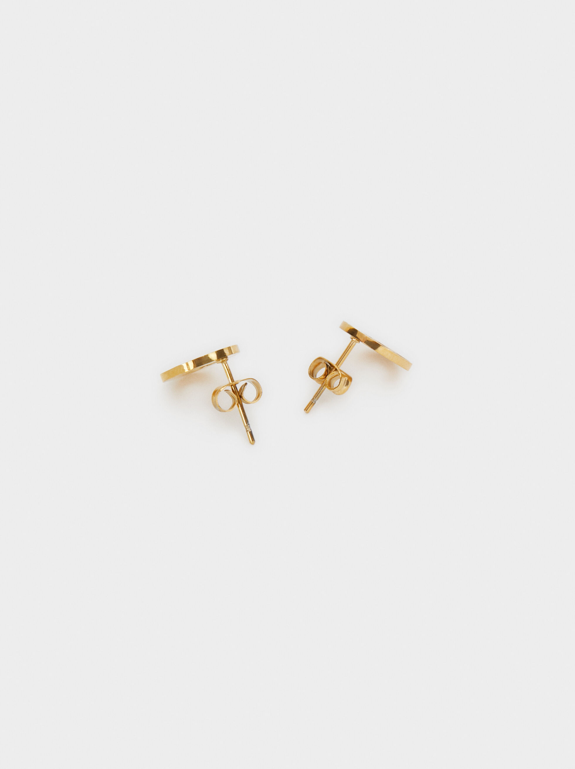 Steel Studs With Cherub, Golden, hi-res