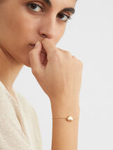 Creme Adjustable Bracelet, Golden, hi-res