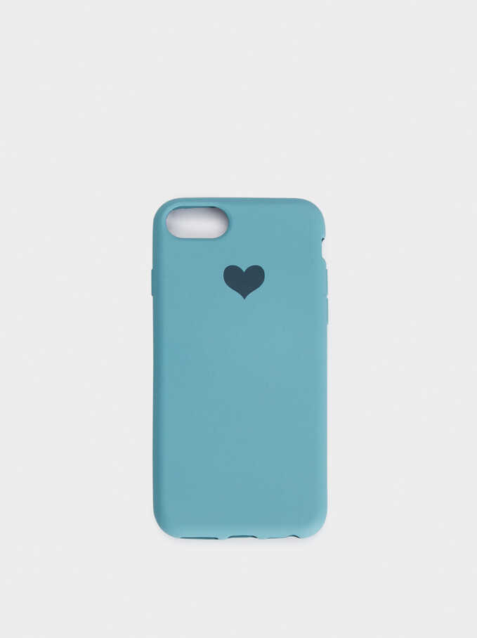 Heart Case For Iphone 6, 7 And 8, Green, hi-res