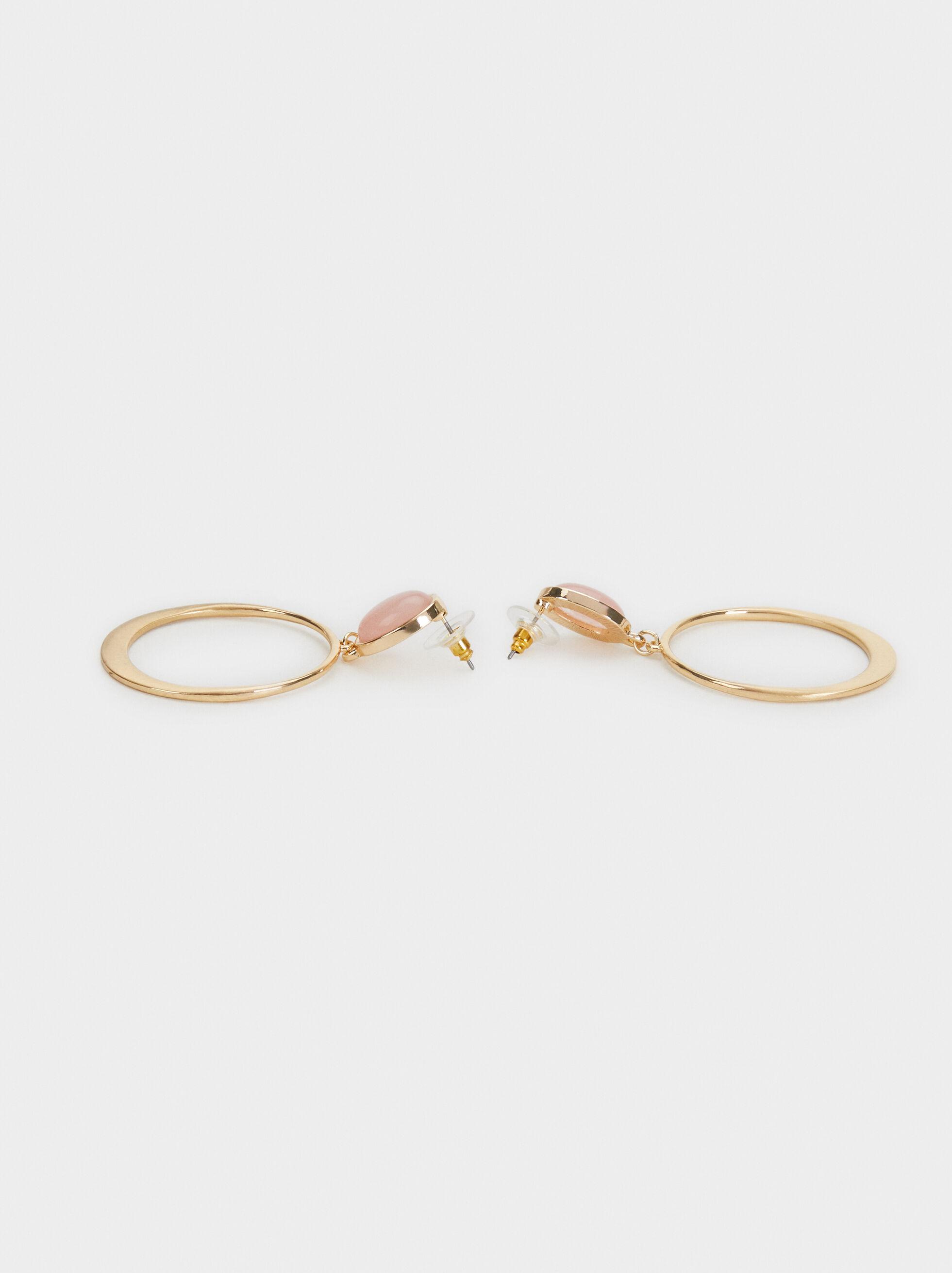 Stone Story Earrings, Pink, hi-res