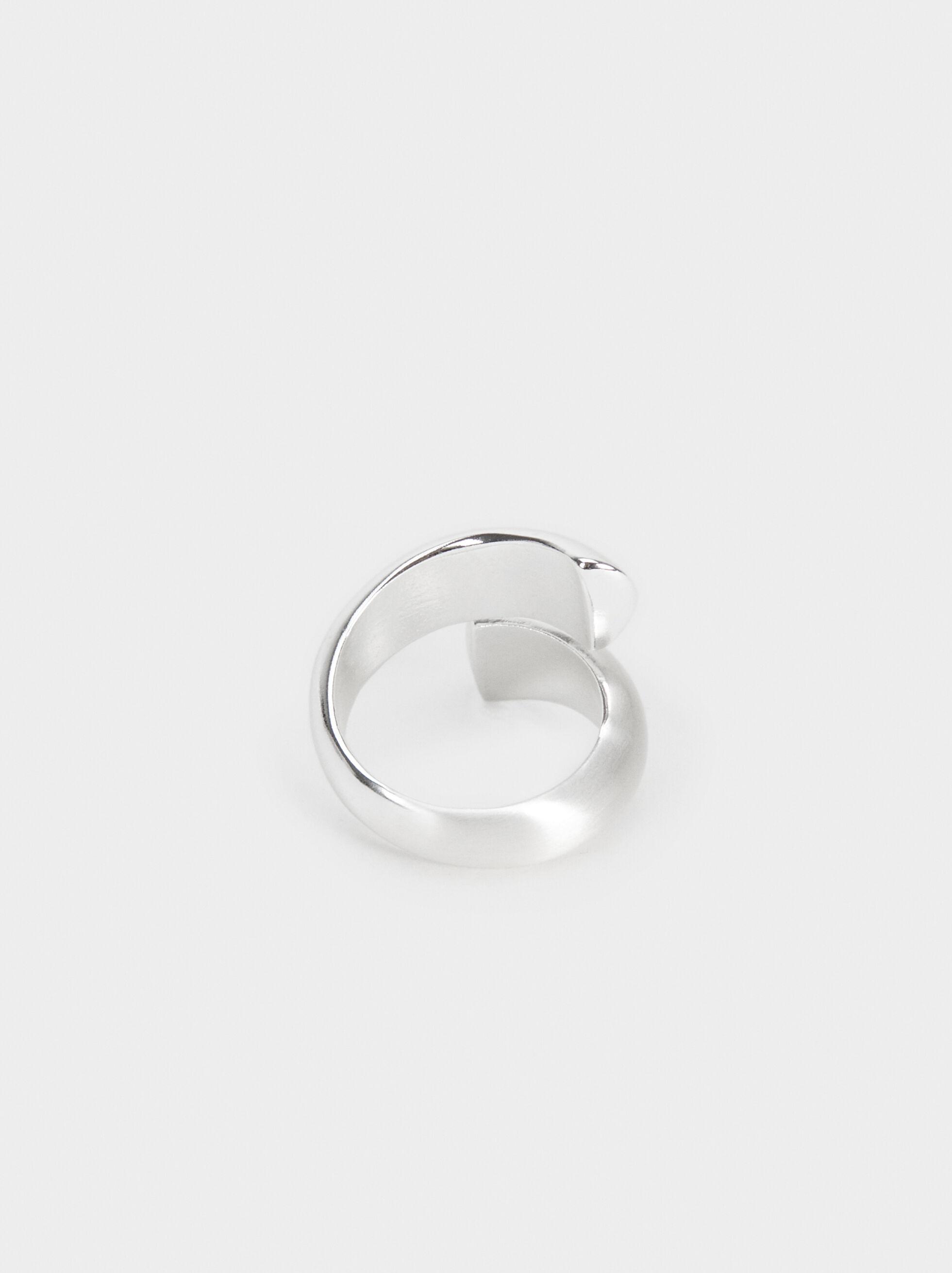 Anello Spirale Argentato, Argento, hi-res