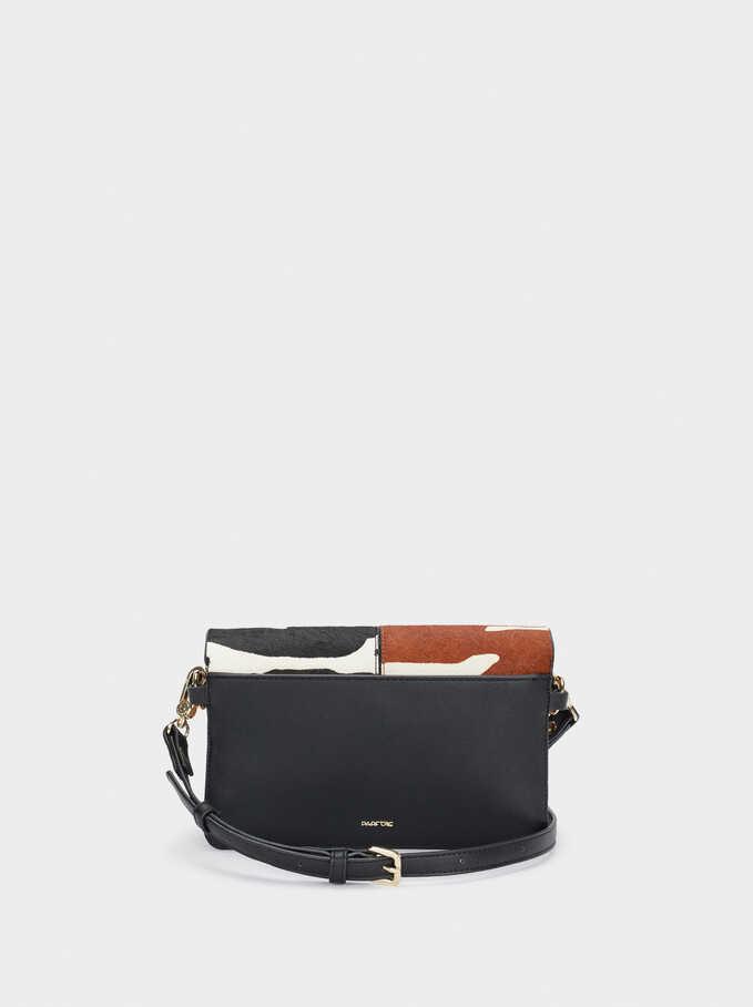 Leather Crossbody Bag, Black, hi-res