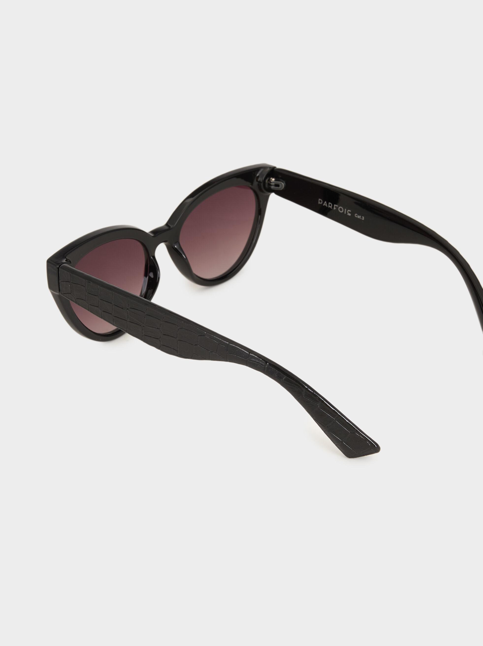 Cat-Eye Sunglasses, Black, hi-res