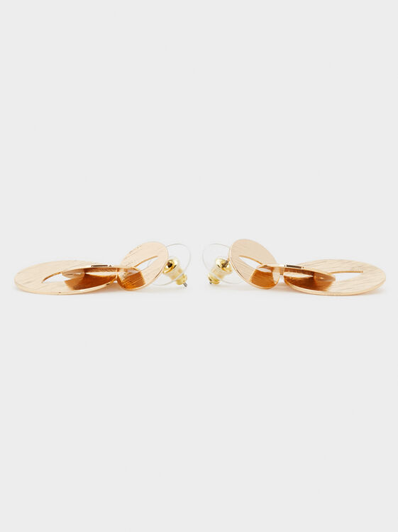 Blog Medium Link Earrings, Golden, hi-res
