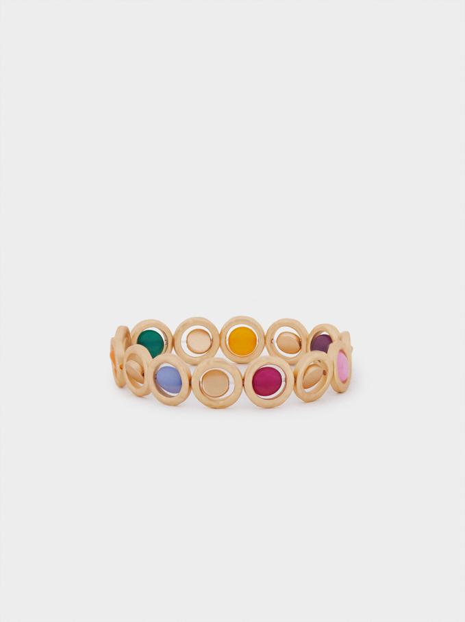 Bracelet Élastique Avec Pierres, Multicolore, hi-res