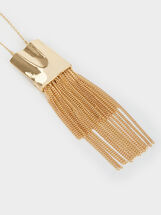 Basic Long Necklace, Golden, hi-res