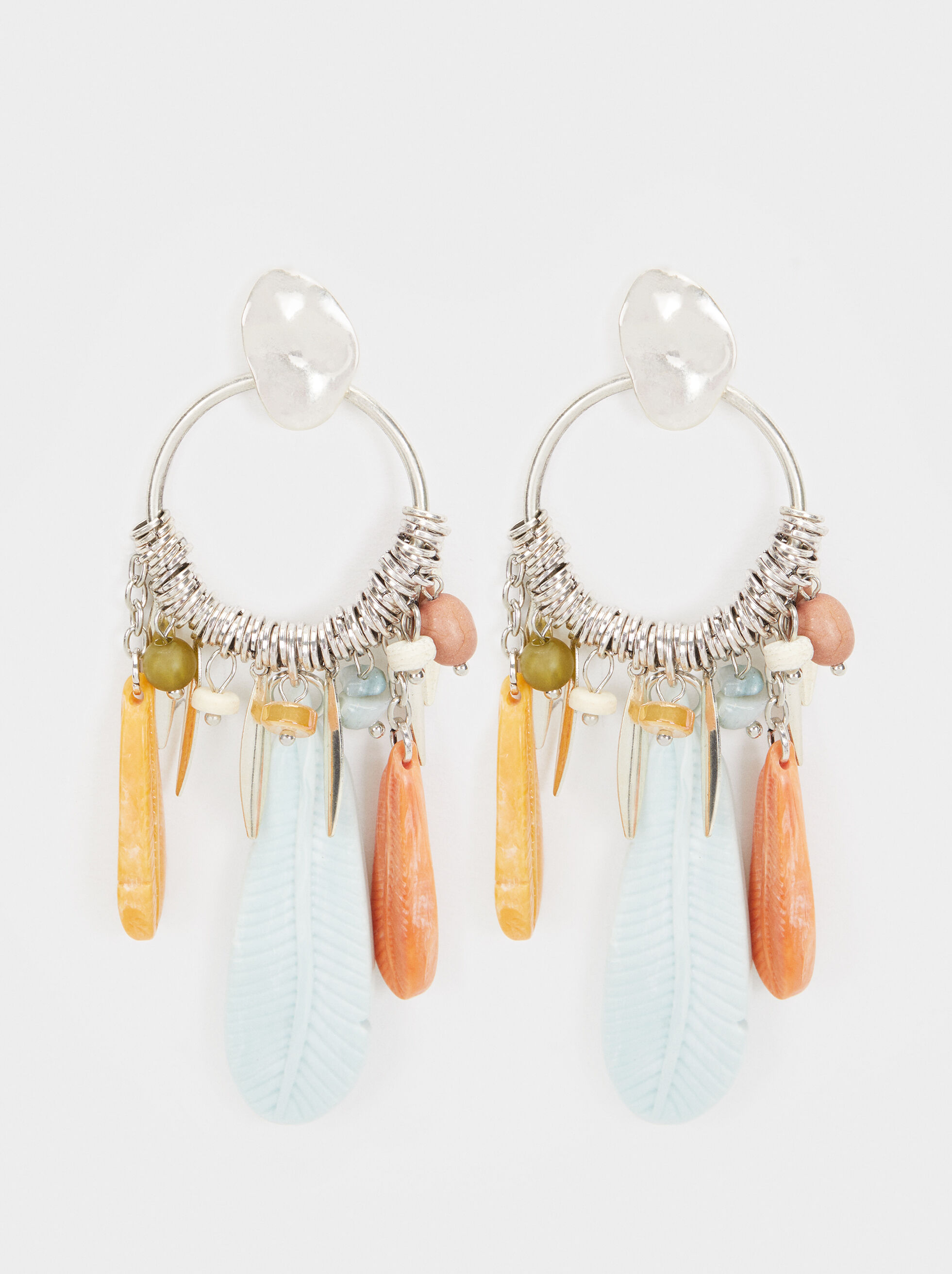 Star Valley Long Earrings, Multicolor, hi-res