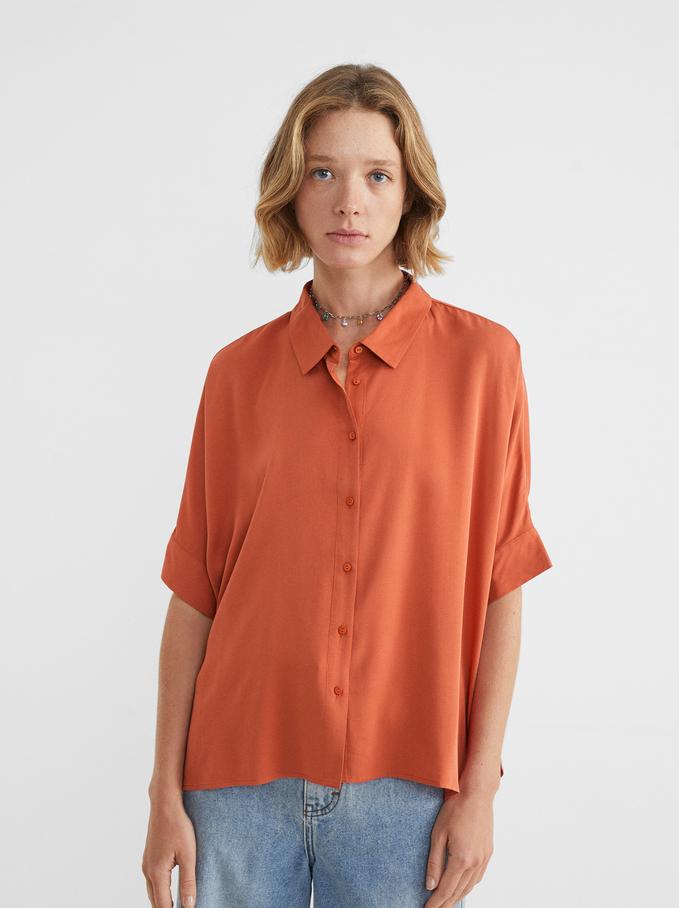 Oversize Shirt, Orange, hi-res