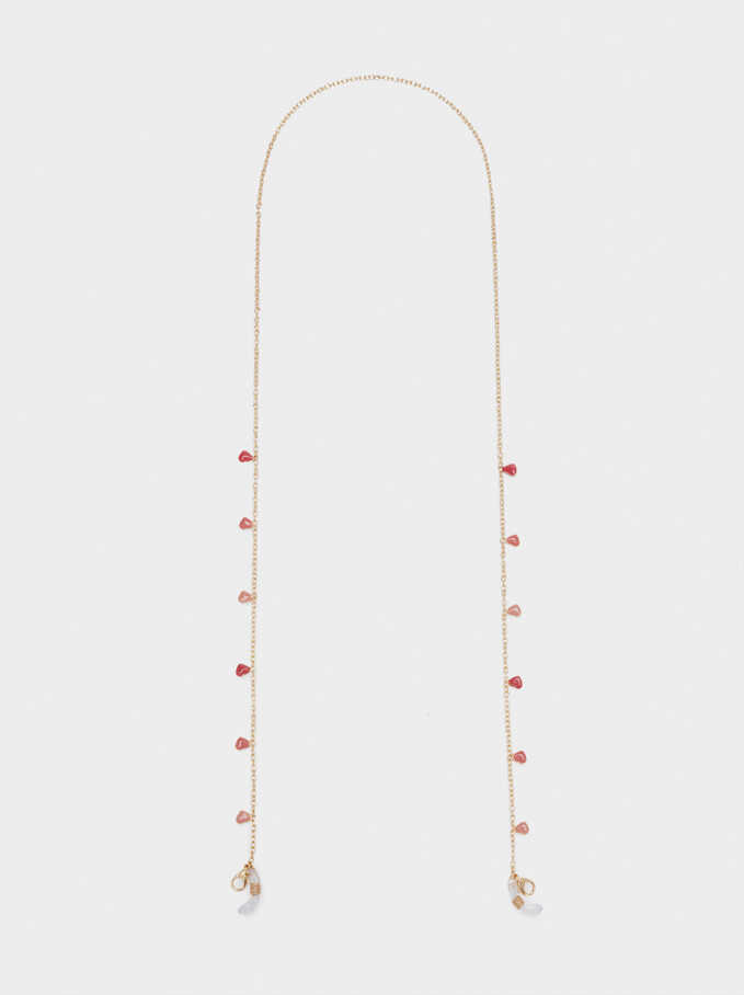 Chain For Sunglasses Or Mask With Hearts, Multicolor, hi-res