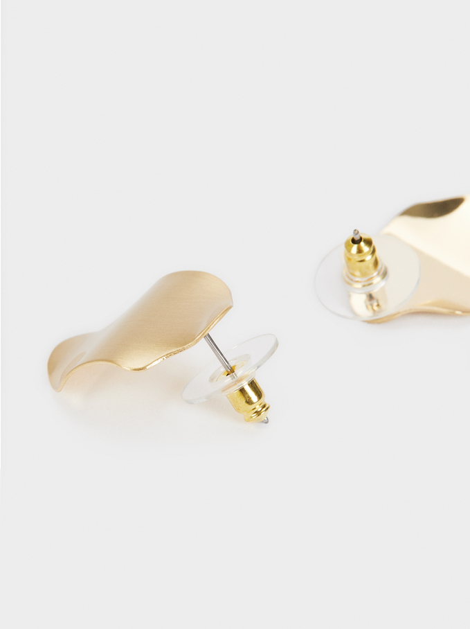 Small Gold Earrings , Golden, hi-res