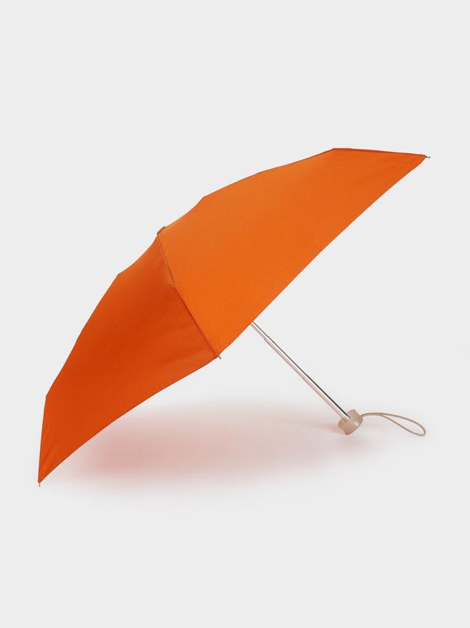 Guarda-Chuva Dobrável Pequeno, Laranja, hi-res