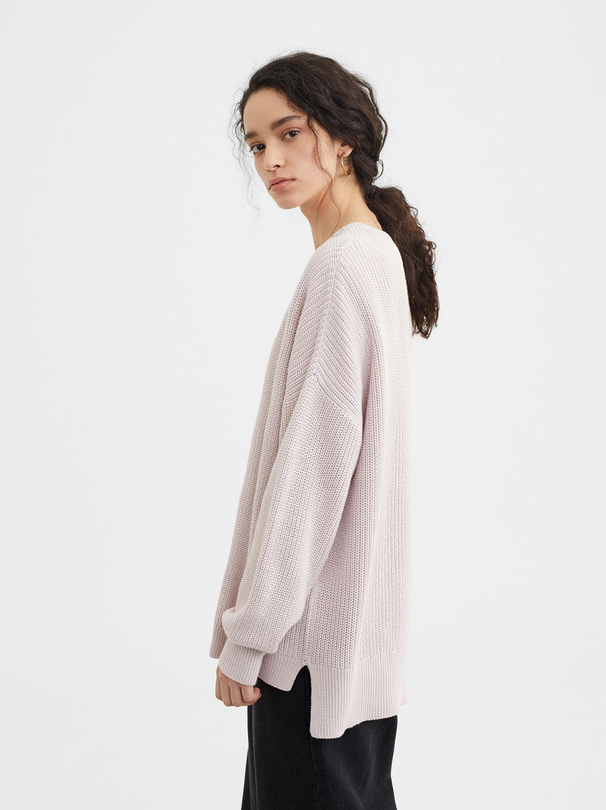 Knit Sweater, Violet, hi-res