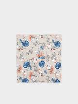 Floral Print Headband, Multicolor, hi-res