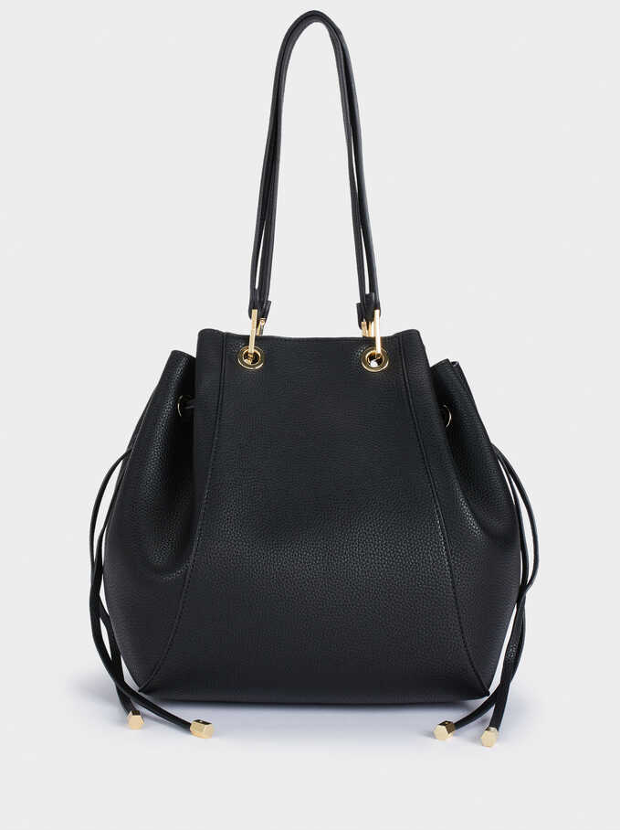 Shoulder Bag With Removable Interior, Black, hi-res