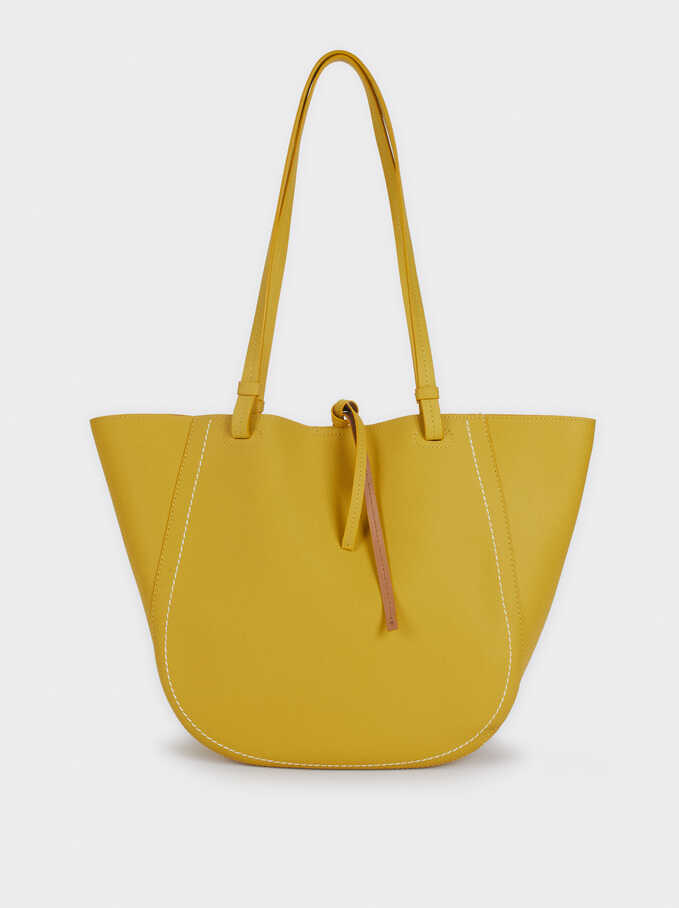 Tote Bag With Removable Inner Section, Yellow, hi-res