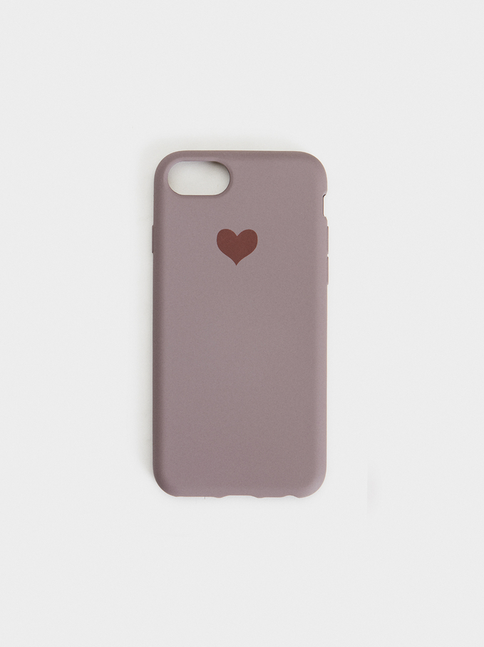 Heart Iphone 6/7/8 Case, Purple, hi-res