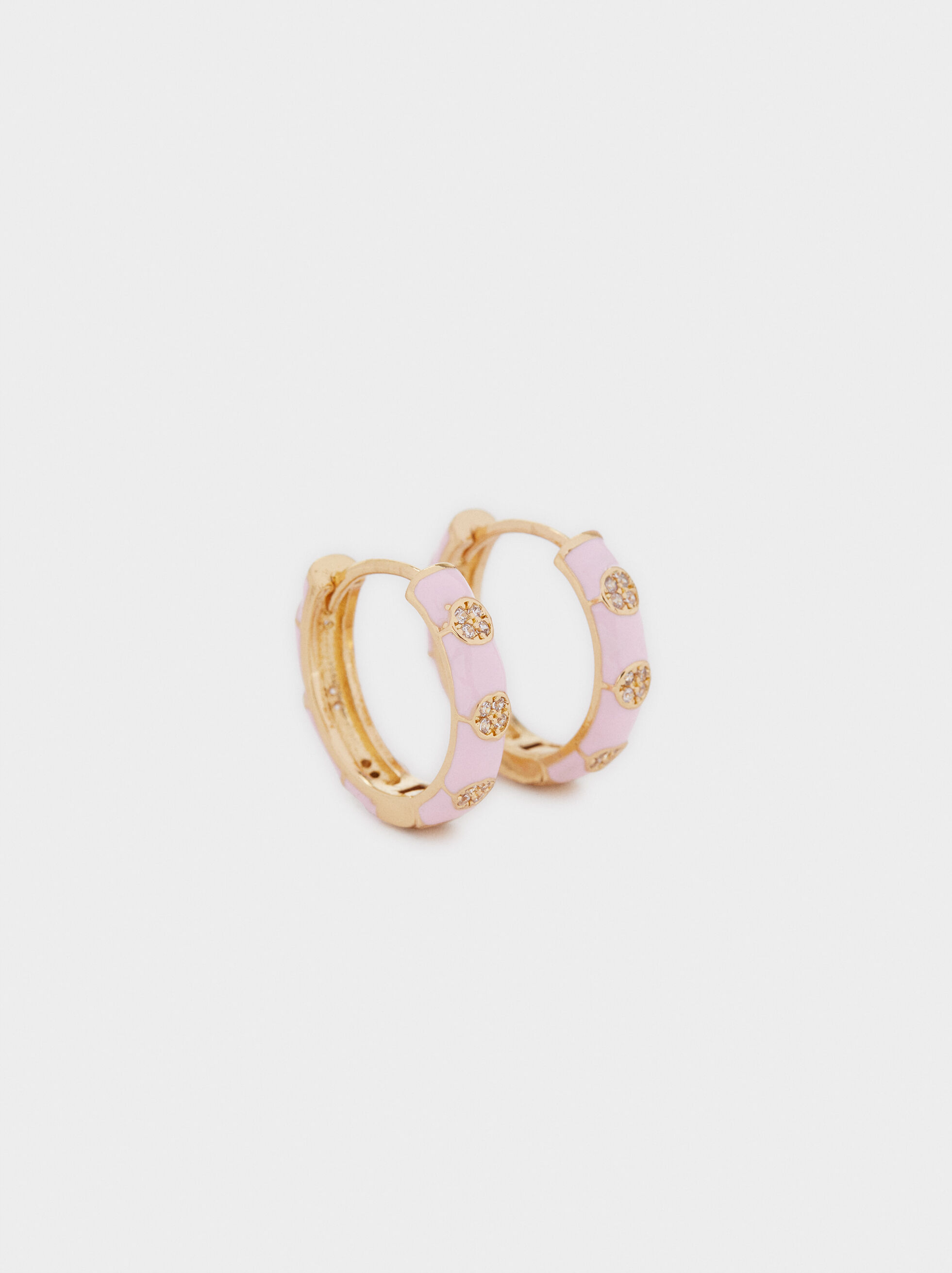 Small Gold Hoop Earrings, Golden, hi-res