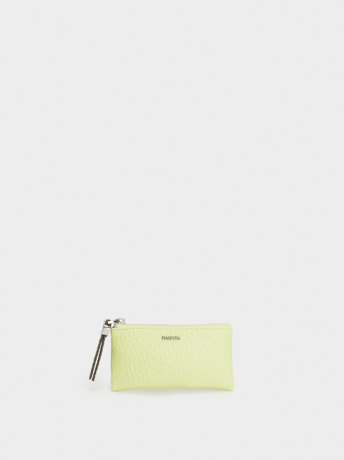 Medium Purse With Key Ring, Yellow, hi-res