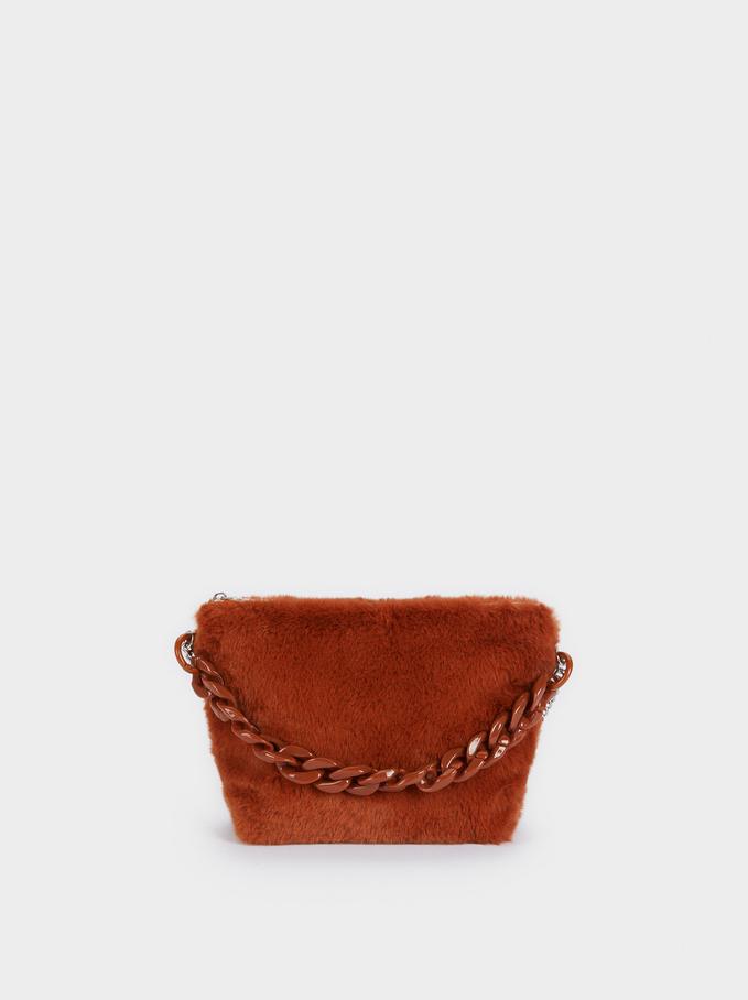 Faux Fur Multi-Purpose Bag, Camel, hi-res