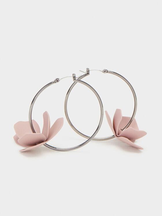 Cosmic Pink Large Hoop Earrings, Multicolor, hi-res