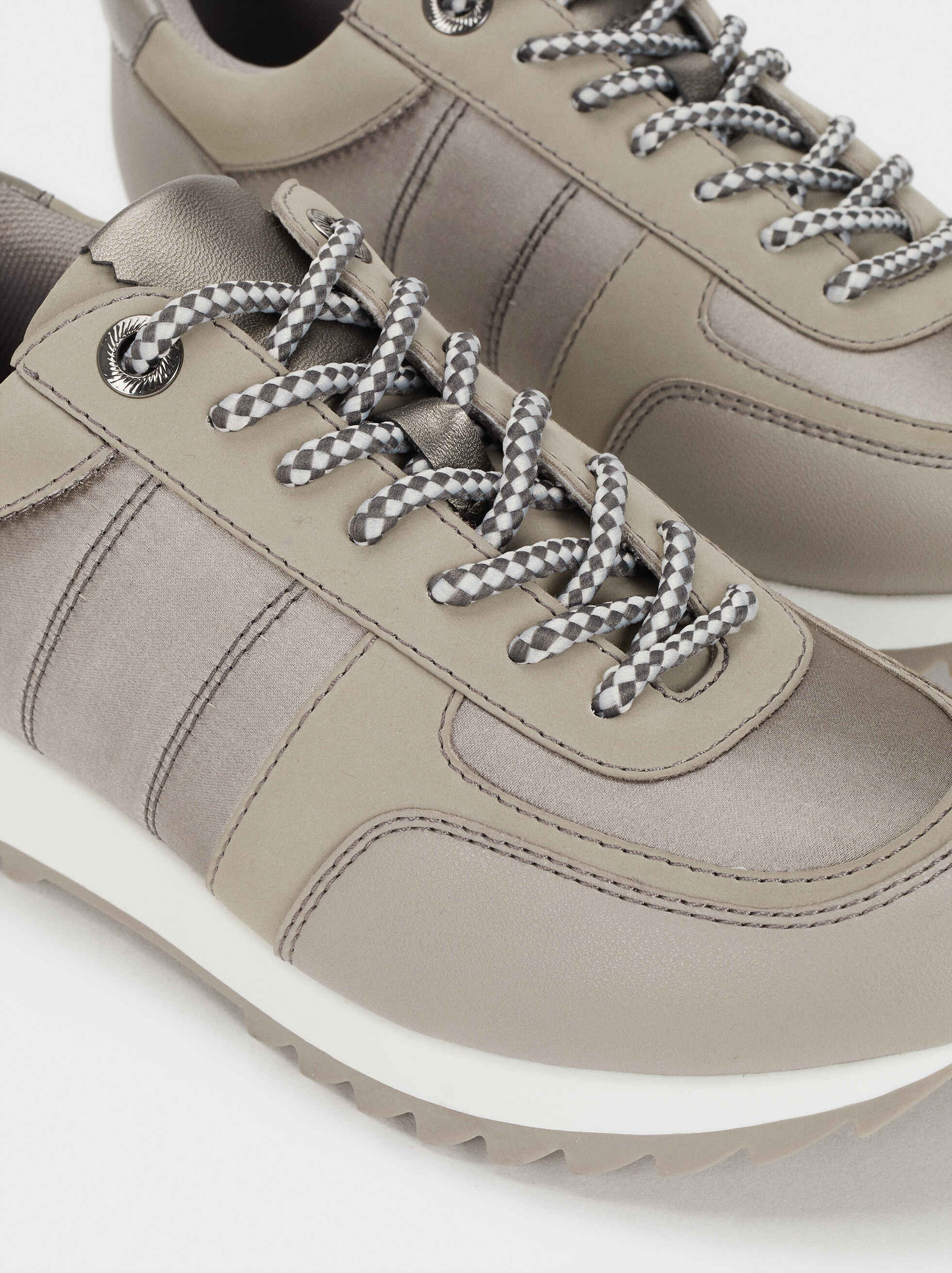 Zapatillas Suela Contraste, Gris, hi-res