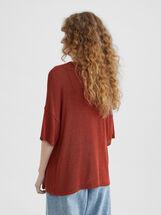 V-Neck Sweater, Brick Red, hi-res