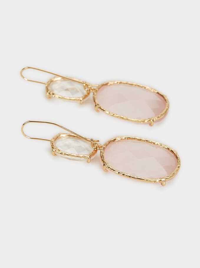 Crystals Earrings, Pink, hi-res